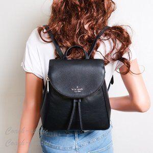 NWT Kate Spade Leila Medium Flap Leather Backpack